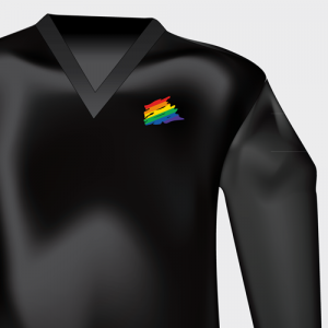 Black V-neck Long-sleeve