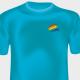 Turquoise Crew-neck T-shirt