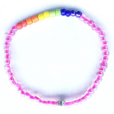 Pink and Rainbow Bracelet