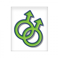 Magnet Symbols - Male Green