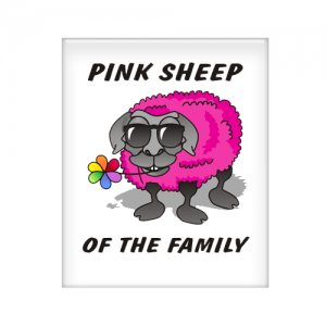 Magnet Pink Sheep