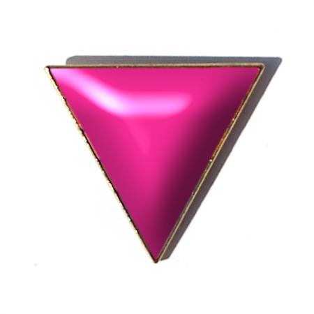 Pin Badge - Pink Triangle