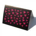 Greeting Cards - Pink Triangles
