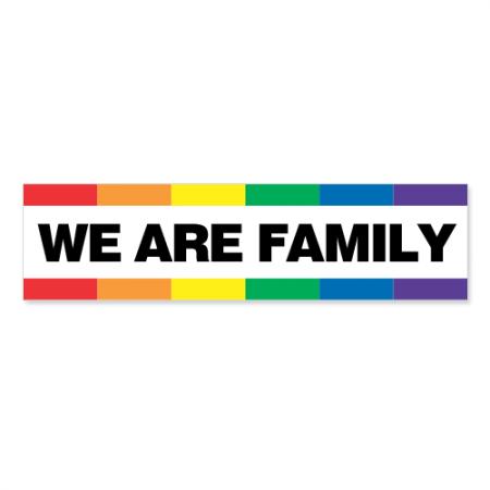 Slogan Sticker - We Are Family