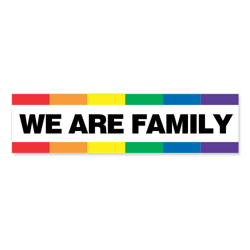 Slogan Sticker - We Are Family
