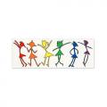Vinyl Sticker: Dancing Girls